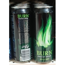 BURN Original Energy Apple Kiwi Drink 12x 500ml Dose Stiege (24-48h Lieferzeit)