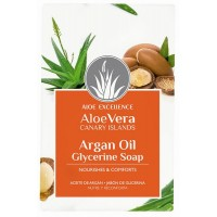 Aloe Excellence - Aloe Vera Glycerine Soap with Argan Oil Seife 100g produziert auf Gran Canaria