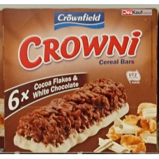 Crownfield - Crowni Barritas de Cereales Cocoa Flakes & White Chocolate 6x30g Müsliriegel 180g (24-48h Lieferzeit)