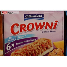 Crownfield - Crowni Barritas de Cereales Tropical Fruit & Yogurt No added sugar 6x25g Müsliriegel 150g (24-48h Lieferzeit)