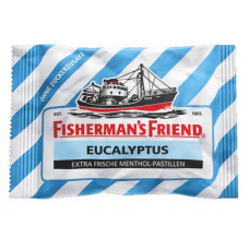 Fisherman's Friend Original Eukalyptus ohne Zuckerzusatz (Blau) 3er-Pack 3x20g (ES)