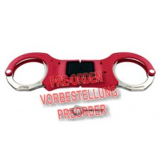 ASP 07466 - Trainings-Handschellen RIGID starr faltbar rot INOX