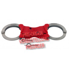 HIATT / SAFARILAND - Speedcuff Rigid Handschellen Model 2103-RED vernickelt rot