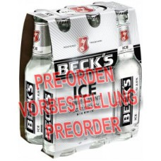 Beck's Ice Lime & Mint Bier Glasflasche 6x330ml MW