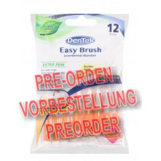 DenTek Easy Brush Interdental-Bürsten extra fein Minze 12 Stück