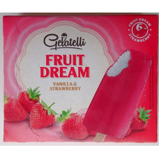 Gelatelli - Fruit Dream Vanilla & Strawberry 6x Eis am Stiel 294g (Tiefkühl) (24-48h Lieferzeit)